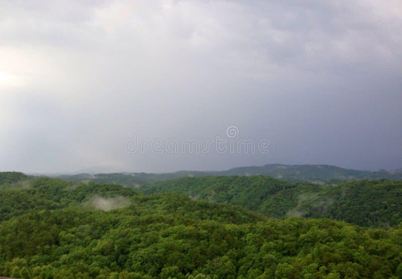 Las montañas del smokey fotografía de archivo