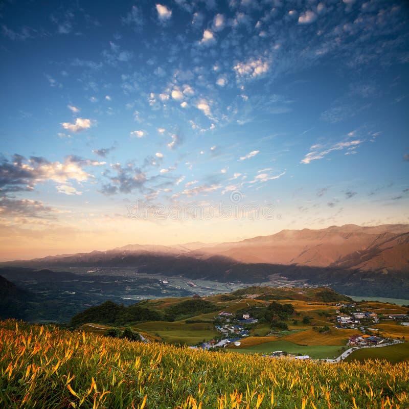 Las montañas hermosas de Taiwán del este imagen de archivo
