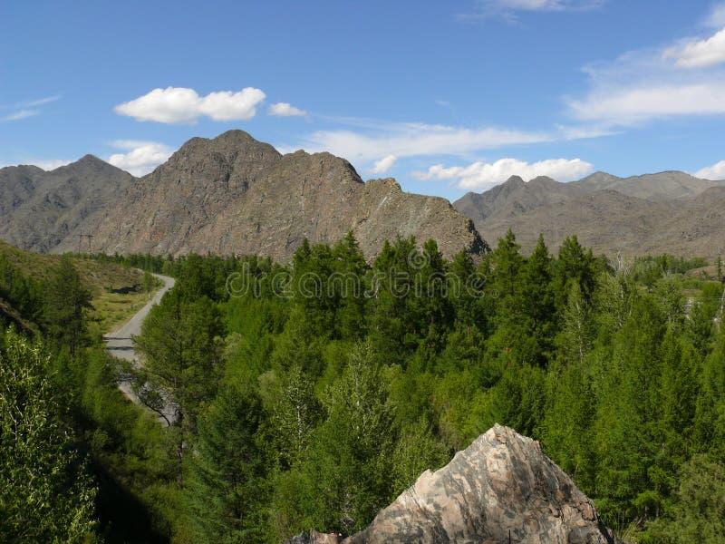 Las montañas occidentales de Sayan foto de archivo