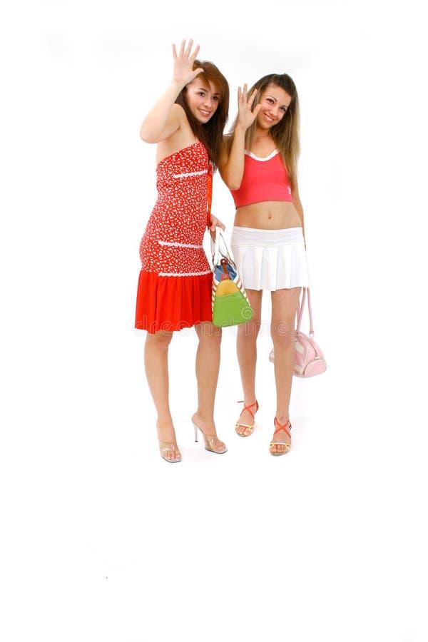 Las muchachas consiguieron ir foto de archivo libre de regalías