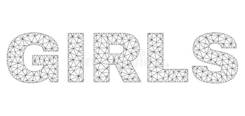 Las MUCHACHAS poligonales de la red mandan un SMS a la etiqueta libre illustration