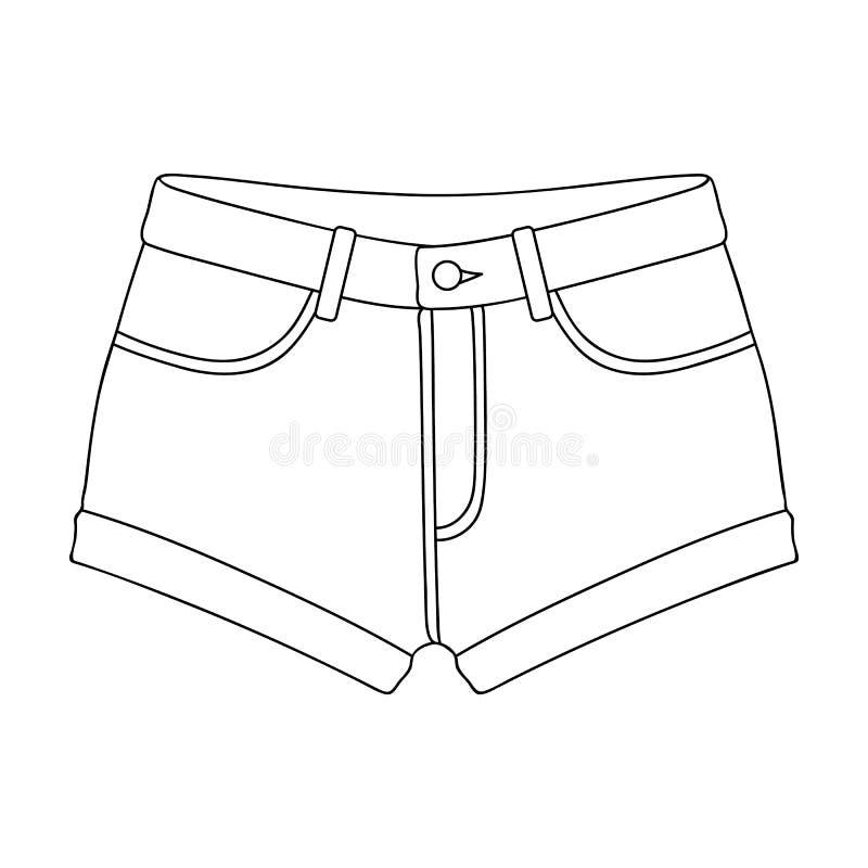 Las mujeres cortas s ponen en cortocircuito con una goma Pantalones cortos para los deportes en el verano en la calle Ropa de las libre illustration