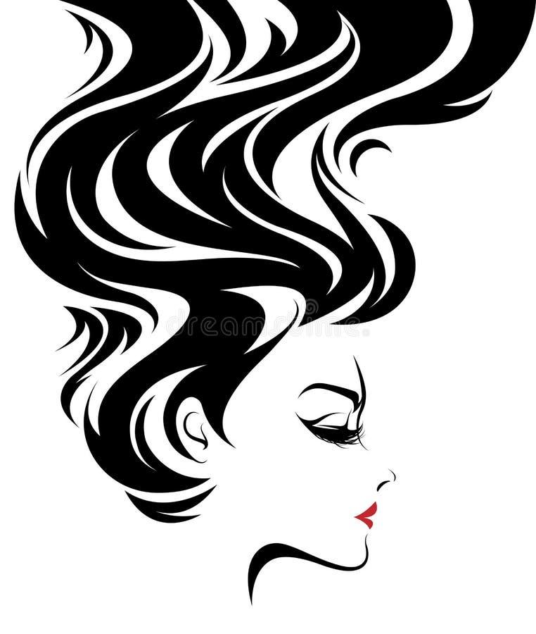 Las mujeres hermosas, mujeres del logotipo hacen frente a maquillaje en el fondo blanco, vector libre illustration