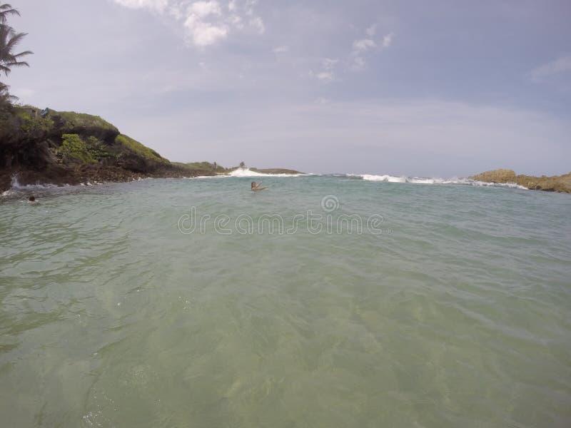 Las Mujeres, Paradise di Poza a Puerto Rico immagine stock libera da diritti