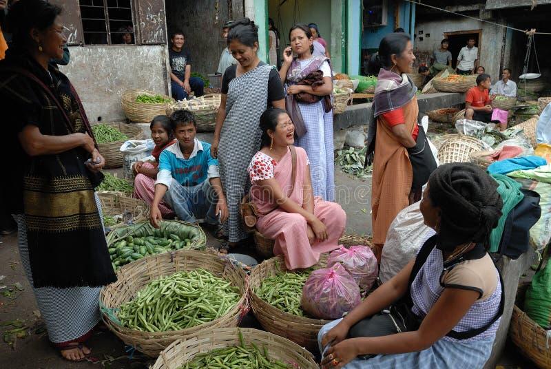 Las mujeres ponen en la India fotos de archivo