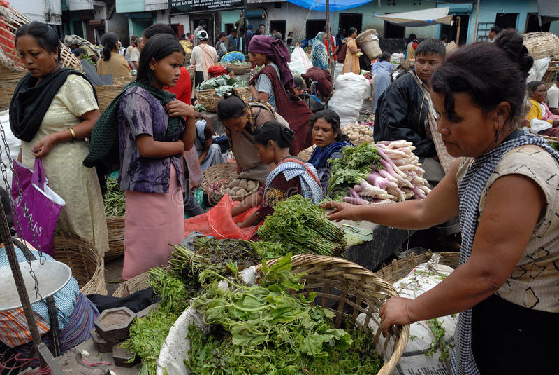 Las mujeres ponen en la India imagenes de archivo