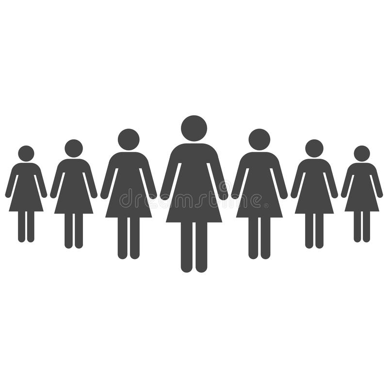 Las mujeres se están colocando stock de ilustración