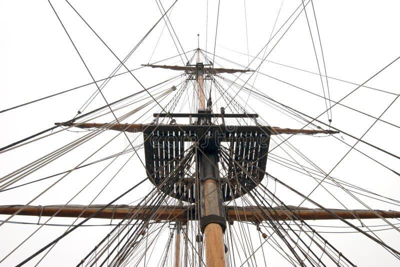 Las naves mast y aparejo fotos de archivo libres de regalías