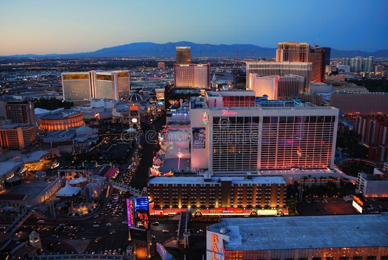 las Nevada linia horyzontu miastowy Vegas zdjęcie stock