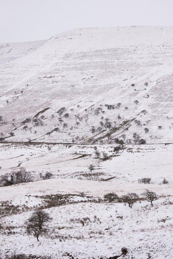 Las nevadas pesadas en el piso arman, el Sur de Gales, Reino Unido fotos de archivo libres de regalías