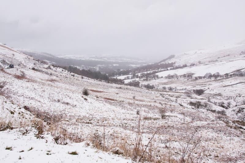 Las nevadas pesadas en el piso arman, el Sur de Gales, Reino Unido foto de archivo