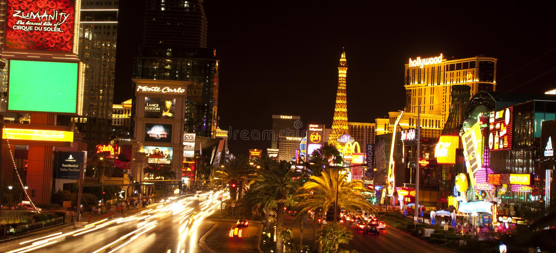 las noc pasek Vegas zdjęcie royalty free