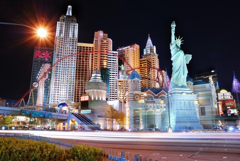 las noc sceny ulica Vegas obraz stock
