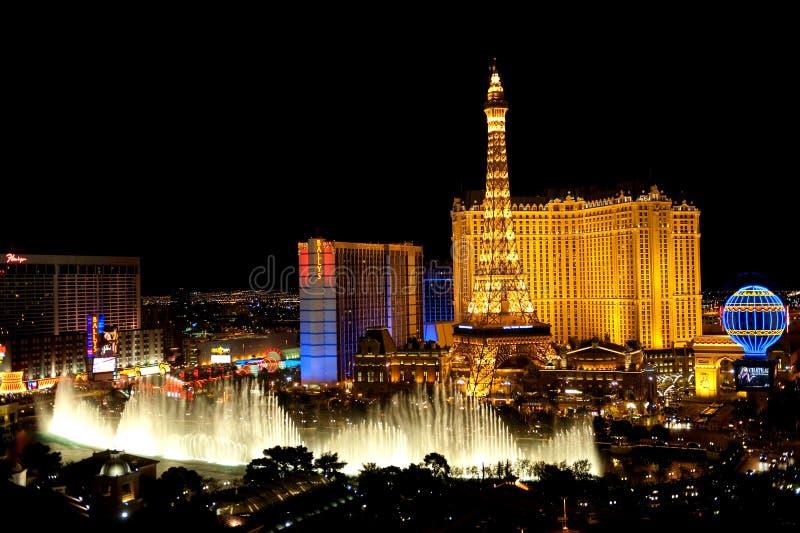 las noc Vegas zdjęcia royalty free