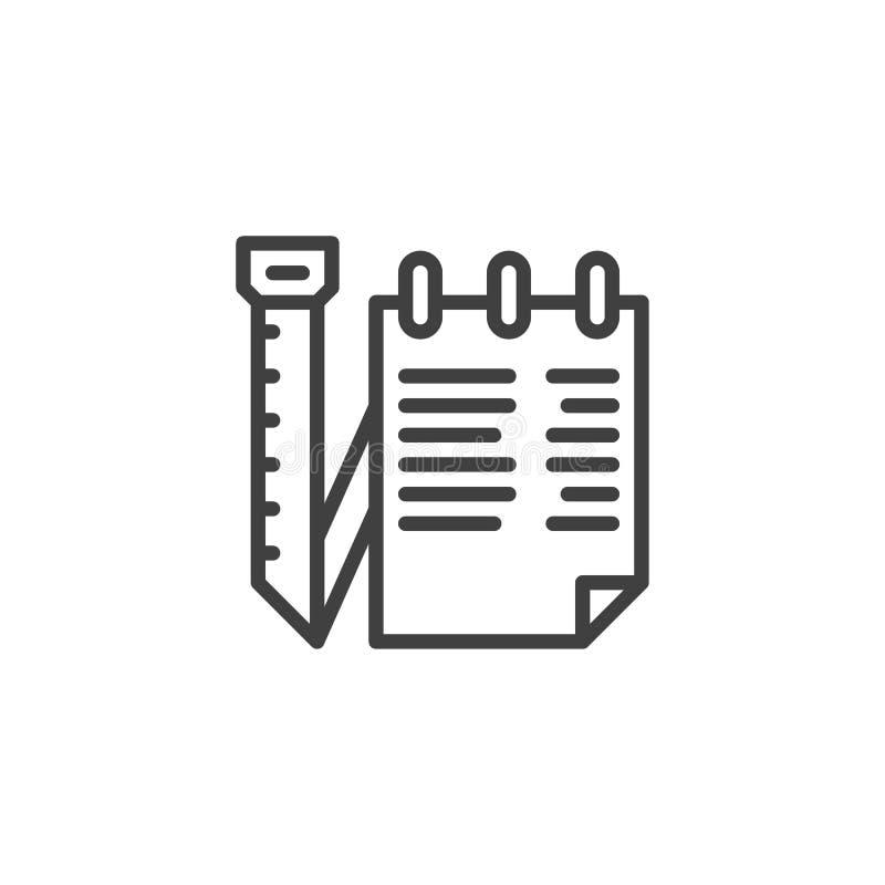 Las notas del sastre alinean el icono libre illustration