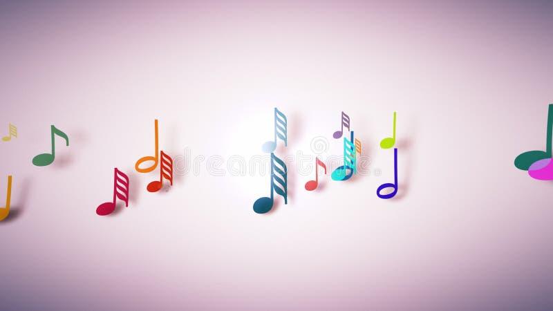 Las notas musicales con la profundidad del campo libre illustration