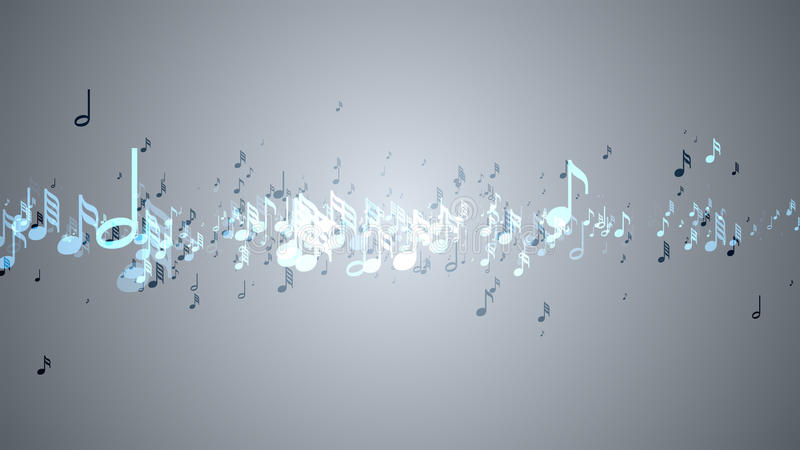 Las notas musicales con la profundidad del campo stock de ilustración