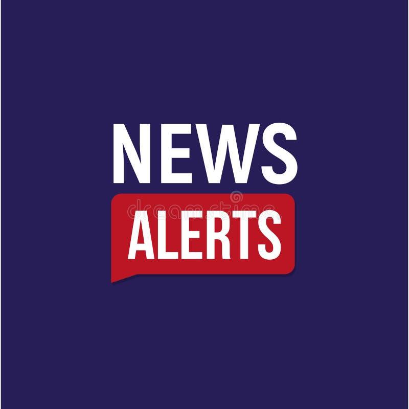 Las noticias alertan la bandera, plantilla del título de las noticias de última hora, elemento del diseño del fondo de la TV, eje ilustración del vector