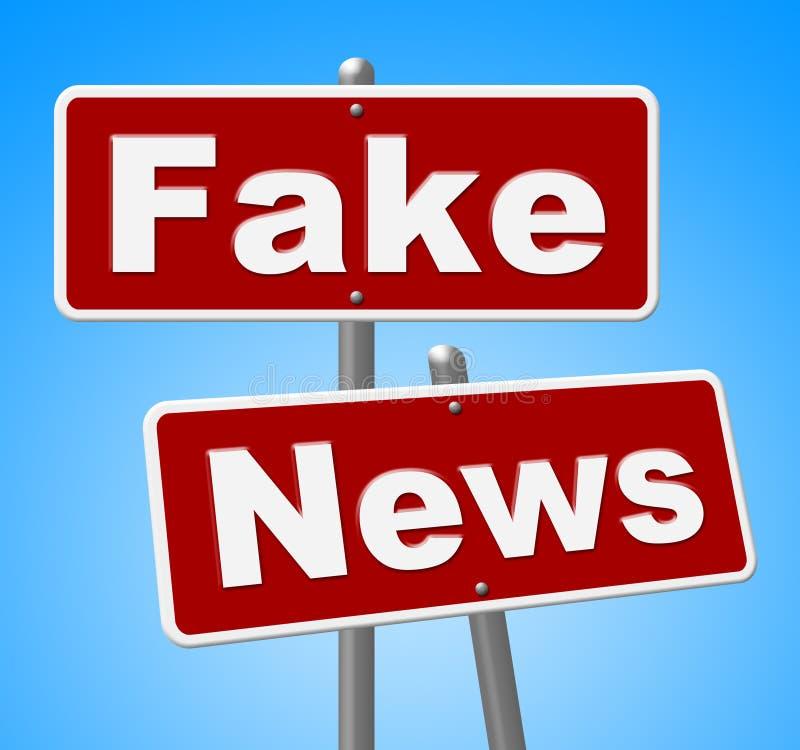 Las noticias falsas firman el ejemplo alternativo de los hechos 3d de las demostraciones stock de ilustración