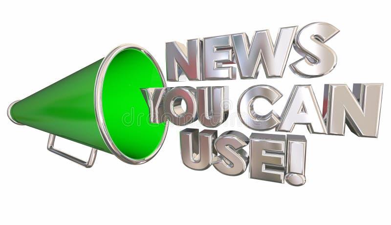 Las noticias usted puede utilizar el megáfono del megáfono ilustración del vector