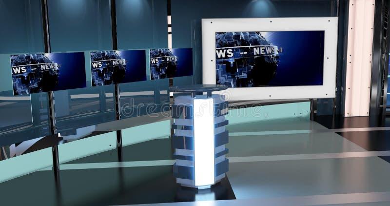 Las noticias virtuales de la TV fijaron 27 stock de ilustración