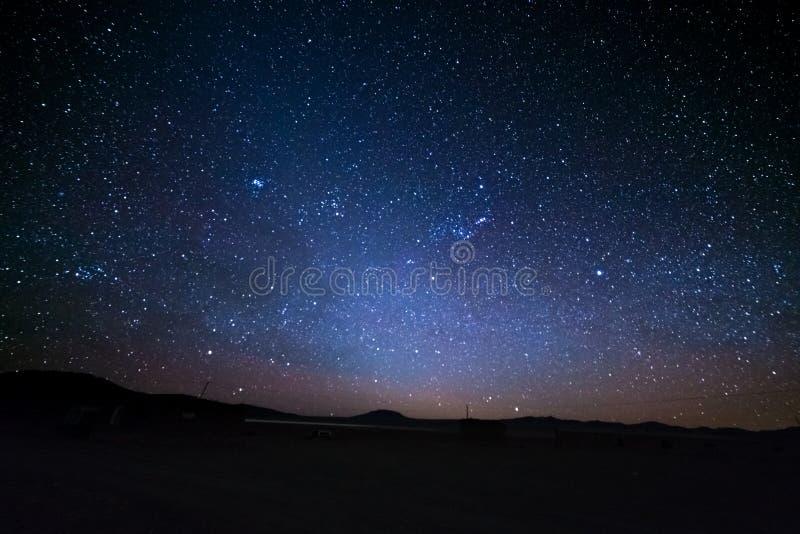 Las nubes de Magellanic majestuosas, excepcional brillante, capturadas de las montañas de Andea en Bolivia, Suramérica imagen de archivo