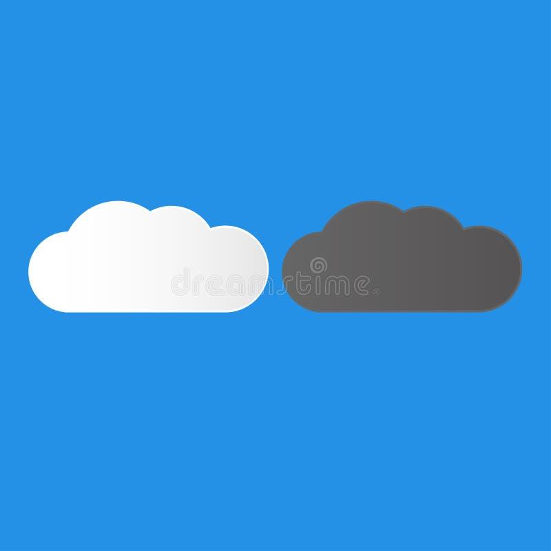 Las nubes oscuras y blancas eligen su combustible ilustración del vector