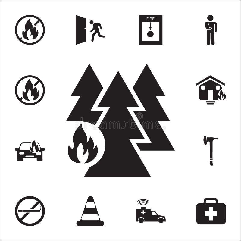 las od pożarniczej ikony Szczegółowy set ogienia strażnika ikony Premii ilości graficznego projekta znak Jeden inkasowe ikony dla ilustracji