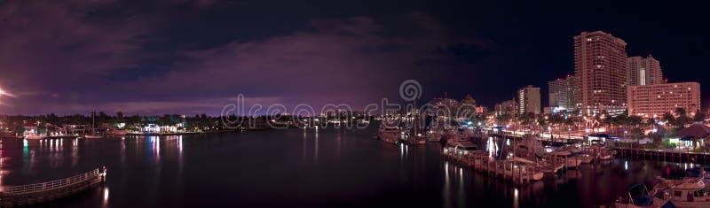 Las Olas. HDR Panorama of Las Olas, Fort Lauderdale royalty free stock photos