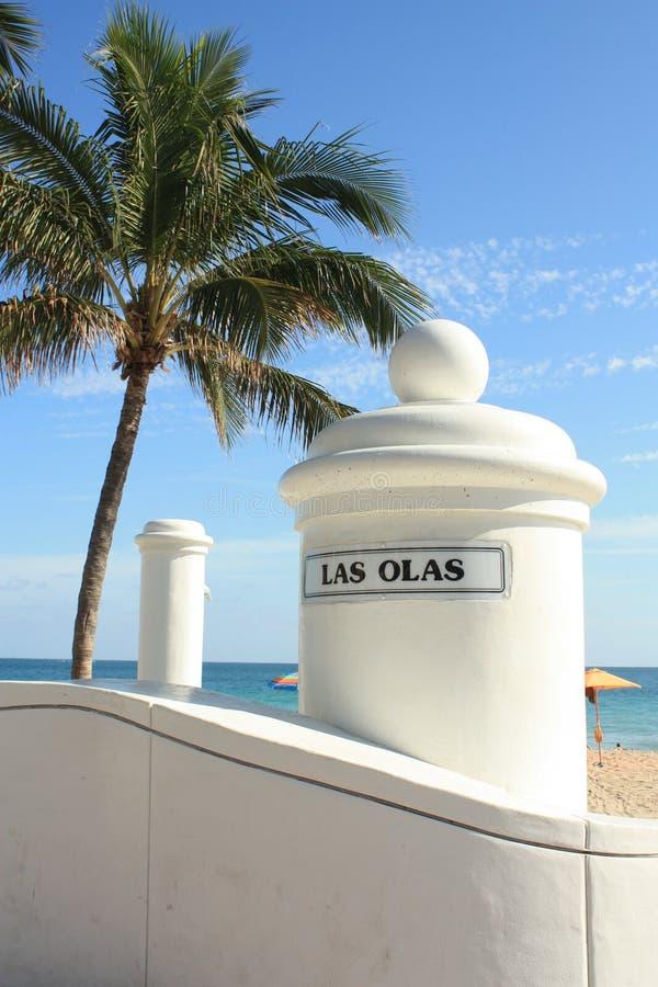 Las Olas-Strand stockfoto