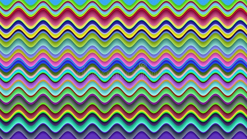 Las ondas del color crean un modelo hermoso y de lujo libre illustration