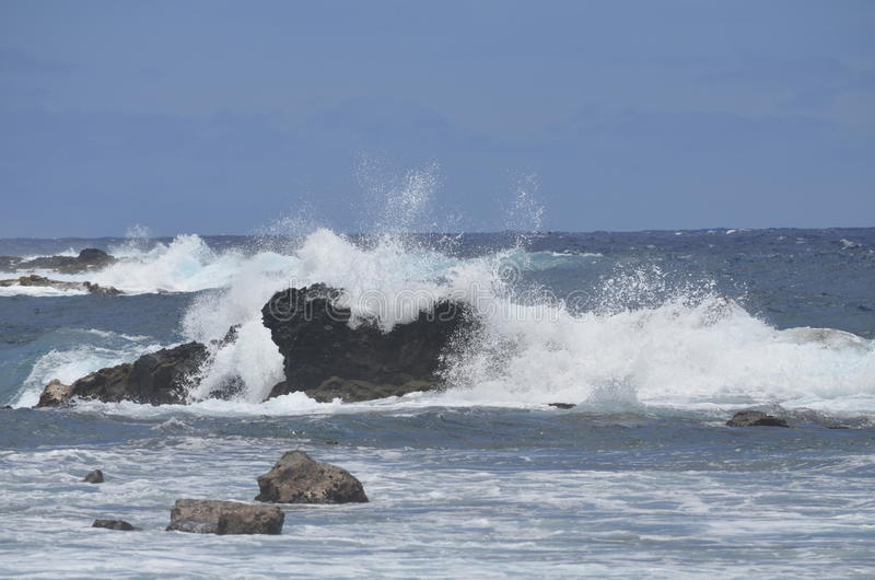 Las ondas espumosas de Big Blue fotografía de archivo libre de regalías
