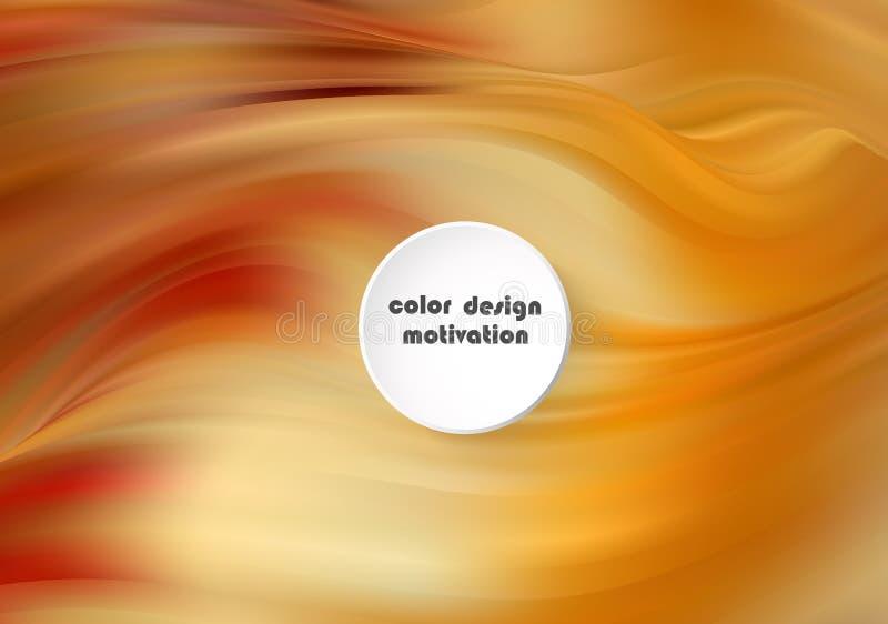 Las ondas líquidas resumen la composición Fondo amarillo anaranjado con las líneas de la onda Plantilla de moda de la página web  libre illustration