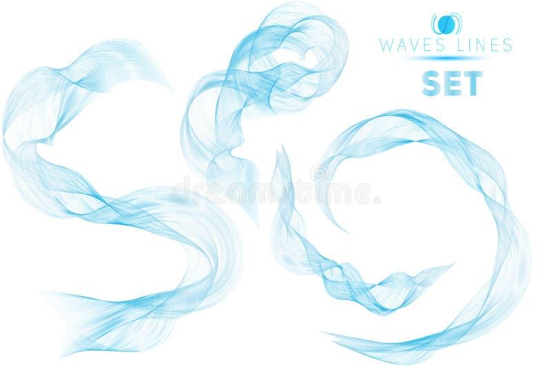 Las ondas masivas de la gran mezcla azul del sistema riegan el fondo abstracto para ilustración del vector