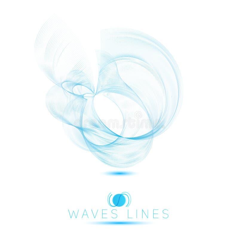 Las ondas masivas de la mezcla hermosa del icono del logotipo resumen el fondo stock de ilustración