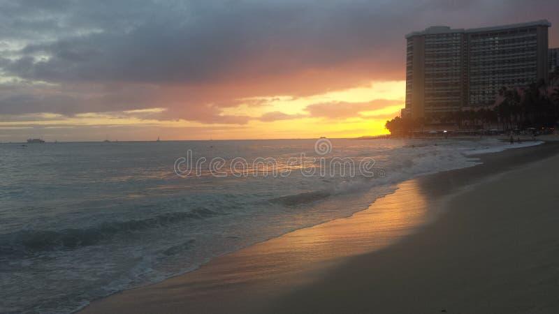 Las orillas de Waikiki Beach Boys fotos de archivo libres de regalías