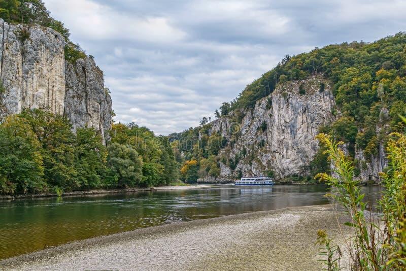 Las orillas rocosas del Danubio, Alemania imágenes de archivo libres de regalías