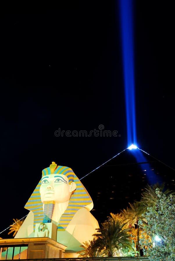 las ostrosłupa sfinks Vegas obraz stock