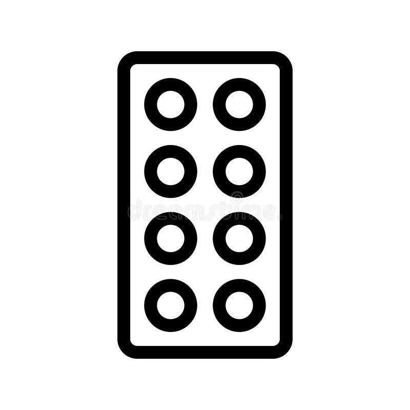 Las píldoras alinean el icono del vector stock de ilustración