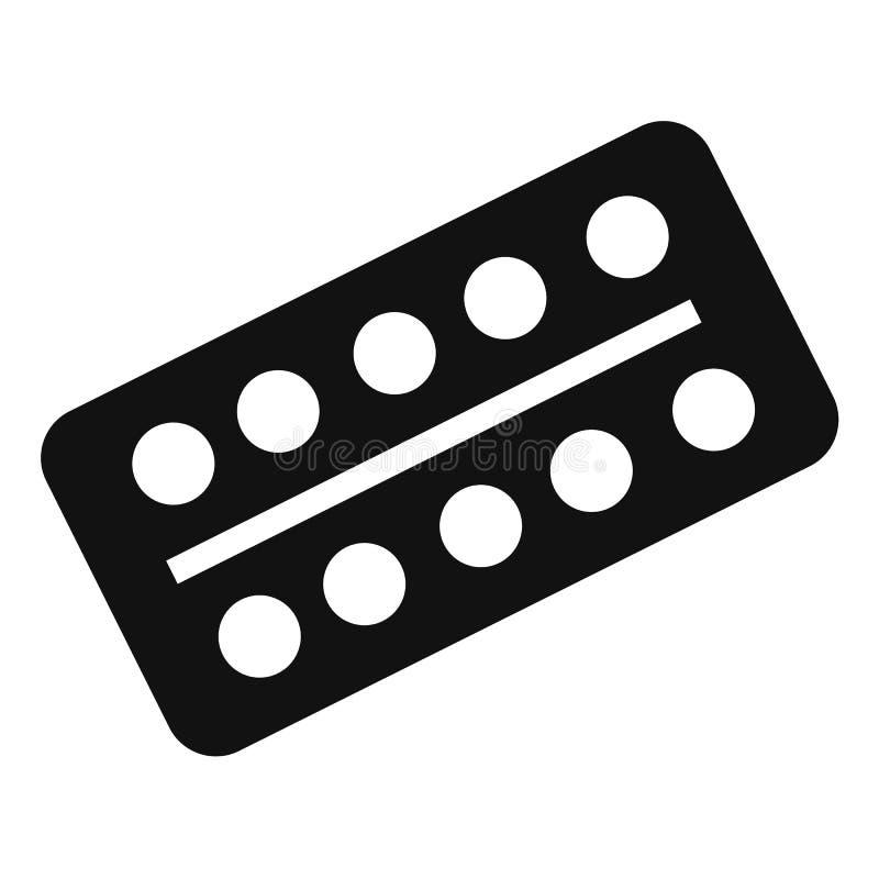 Las píldoras embalan el icono, estilo simple libre illustration