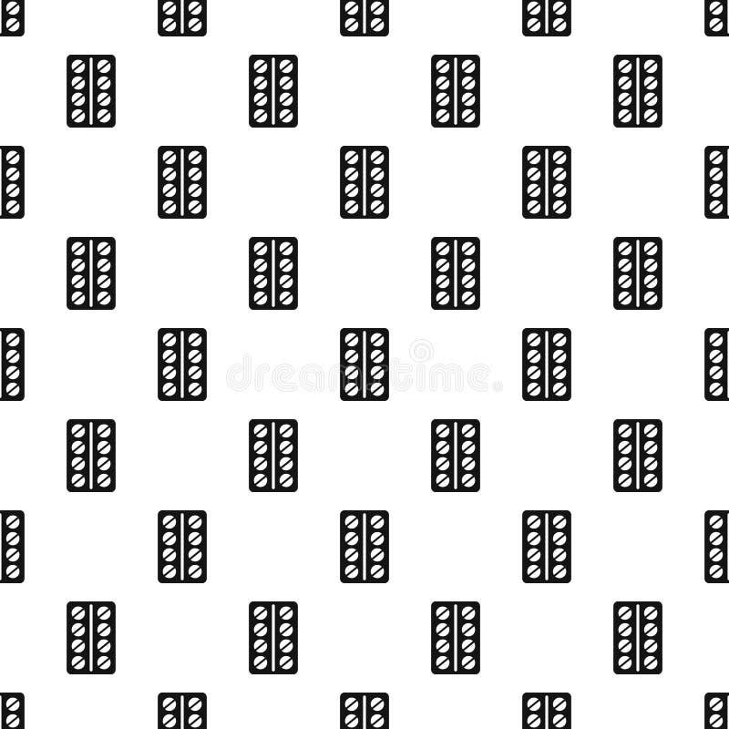 Las píldoras redondas en un paquete de ampolla modelan estilo simple ilustración del vector
