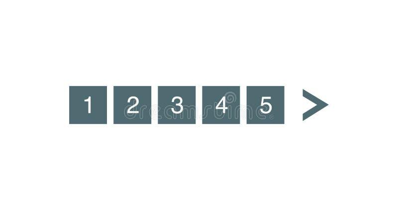 Las paginaciones barran el sistema Páginas electrónicas para que enumeración del sitio web indique, marcas usadas para mostrar la stock de ilustración