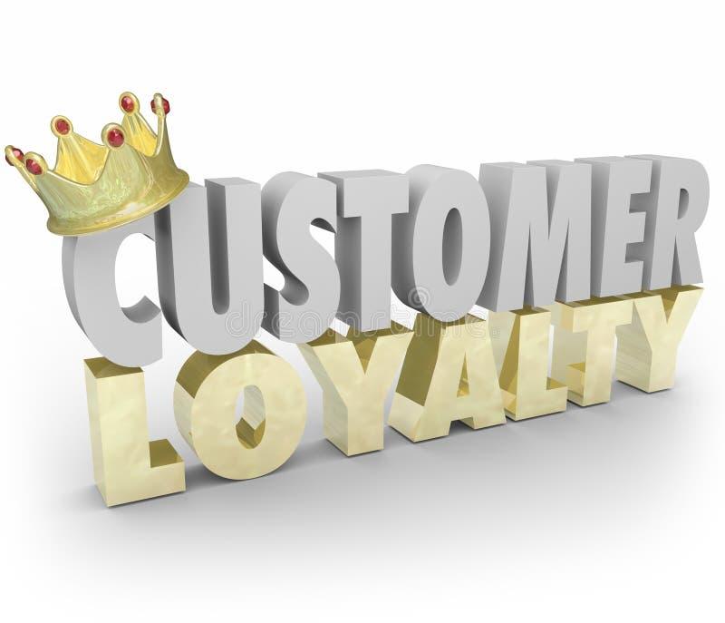 Las palabras de la lealtad 3d del cliente coronan el top de vuelta Clien del negocio de la repetición ilustración del vector
