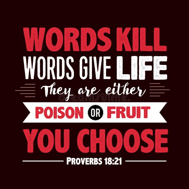 Las palabras de la matanza de las palabras dan vida ilustración del vector
