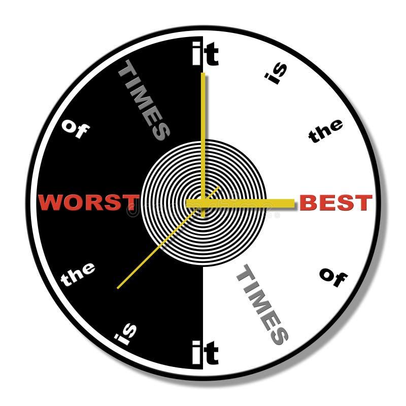 Tema del reloj de la expresión del tiempo ilustración del vector