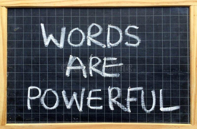 Las palabras son potentes imagen de archivo