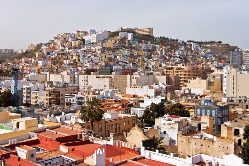 Las Palmas aerial view stock photography
