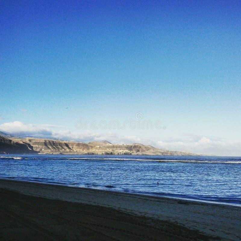 Las Palmas Beach, Spain stock photo
