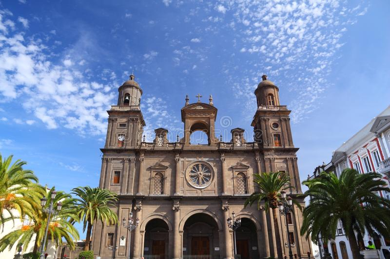 Las Palmas cathedral. Architecture of Gran Canaria royalty free stock photo