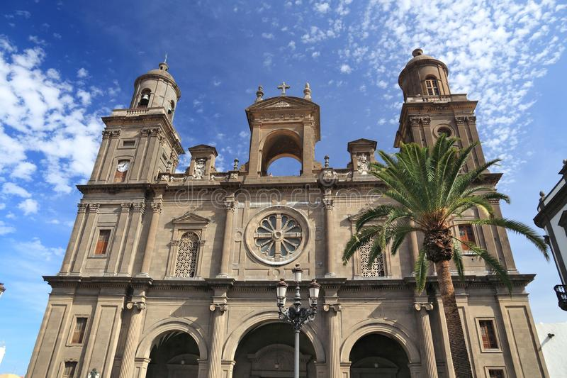 Las Palmas. Cathedral - architecture of Gran Canaria royalty free stock image